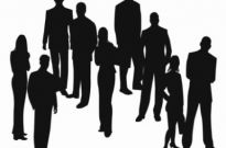 Free vector Vector people  Silhouettes of Business People Vector