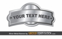 Free vector Vector banner  Silver Metal Banner
