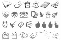 Free vector Vector icon  simple black and white icon vector of two