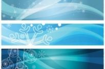 Free vector Vector banner  snowflake background banner vector