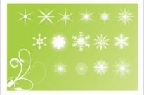 Free vector Vector background  Snowflake element background