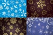 Free vector Vector background  snowflake pattern background vector