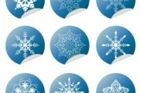 Free vector Vector icon  Snowflake Winter Set Vector