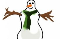 Free vector Vector clip art  snowman no shadow