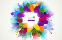 Free vector Vector background  splash colorful flowers background