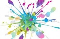 Free vector Vector misc  Splashes of Colorful Ink Vector Art