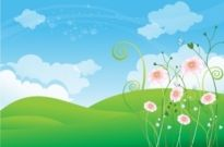 Free vector Vector landscape  Spring Background