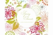 Free vector Vector floral  Spring Design with Copyspace