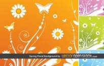 Free vector Vector floral  Spring Floral Background