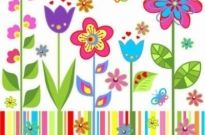 Free vector Vector background  Spring floral background vector Background