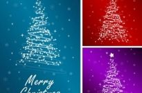 Starlight christmas tree vector Free vector 1.04MB
