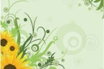 Free vector Vector misc  Sunflower Background