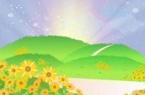 Free vector Vector misc  Sunflower landscape