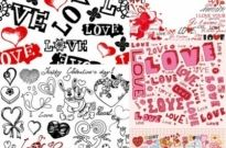 Free vector Vector background  super cute valentine day background vector