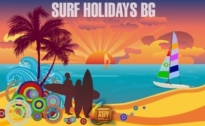 Free vector Vector background  Surf Holidays Background