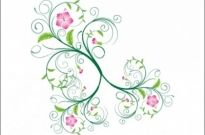 Free vector Vector flower  Swirl Floral Vector
