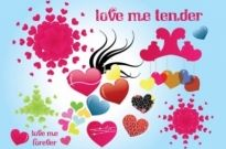Free vector Vector Heart  Tender Love Vector Graphics