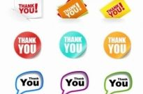 Free vector Vector misc  Thank You Stickers Vector Collection
