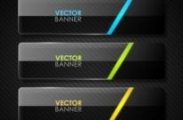 Free vector Vector banner  the black cool banner04vector