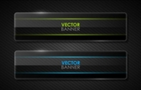 Free vector Vector banner  the black cool banner05vector
