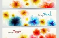 Free vector Vector banner  the exquisite flowers banner02vector