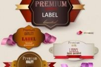 Free vector Vector misc  the exquisite label design 02 vector