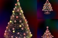 Three glittering christmas tree vector Free vector 3.18MB