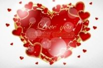 Free vector Vector Heart  valentine39s day greeting card 03 vector