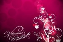 Free vector Vector background  Valentine's Day Floral on Red Background