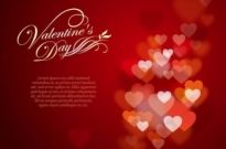 Free vector Vector Heart  Valentine's Day Greeting Card