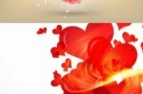 Free vector Vector background  Valentine's Day Heart Flowers