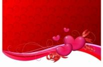 Free vector Vector Heart  Valentine Background