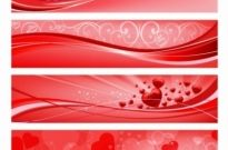 Free vector Vector banner  Valentine Banners
