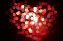 Free vector Vector background  Valentine Bokeh Heart Shaped Light Background