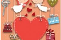 Free vector Vector Heart  Valentine Card