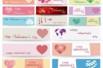 Free vector Vector banner  valentine day banner vector
