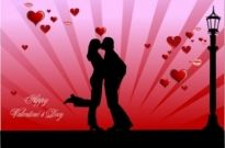 Free vector Vector Silhouettes  valentine day couples kissing vector