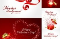 Free vector Vector Heart  valentine day gift ribbon and clip art