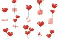 Free vector Vector Heart  valentine day heartshaped balloons element vector