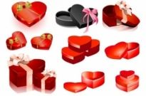 Free vector Vector Heart  valentine day heartshaped gift box vector