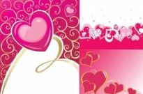 Free vector Vector background  valentine day heartshaped vector background