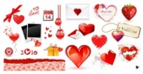Free vector Vector Heart  valentine day love element vector