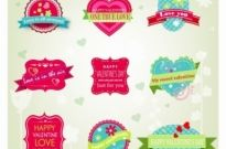 Free vector Vector misc  Valentine labels