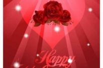 Free vector Vector background  Valentine Red background