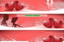 Free vector Vector banner  Valentines Day Banner