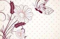 Free vector Vector background  vector beautiful flower background art