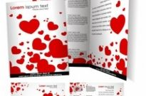 Free vector Vector Heart  Vector Brochure Template with Love Heart