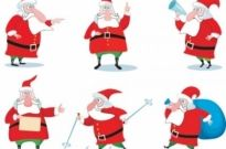 Free vector Vector cartoon  vector cartoon santa claus