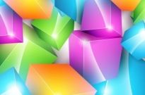 Vector Colorful Cube Background Free vector 690.58KB