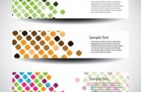 Free vector Vector banner  vector dot background fashion banners 1